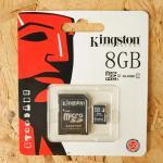 Micro SD Kington 8 GB Class10(ไม่รับประกัน)