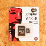 Micro SD Kington 64 GB Class10 (แท้)