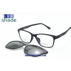 [Zupio 002 ดำด้าน] กรอบแว่นคลิปออนแม่เหล็ก