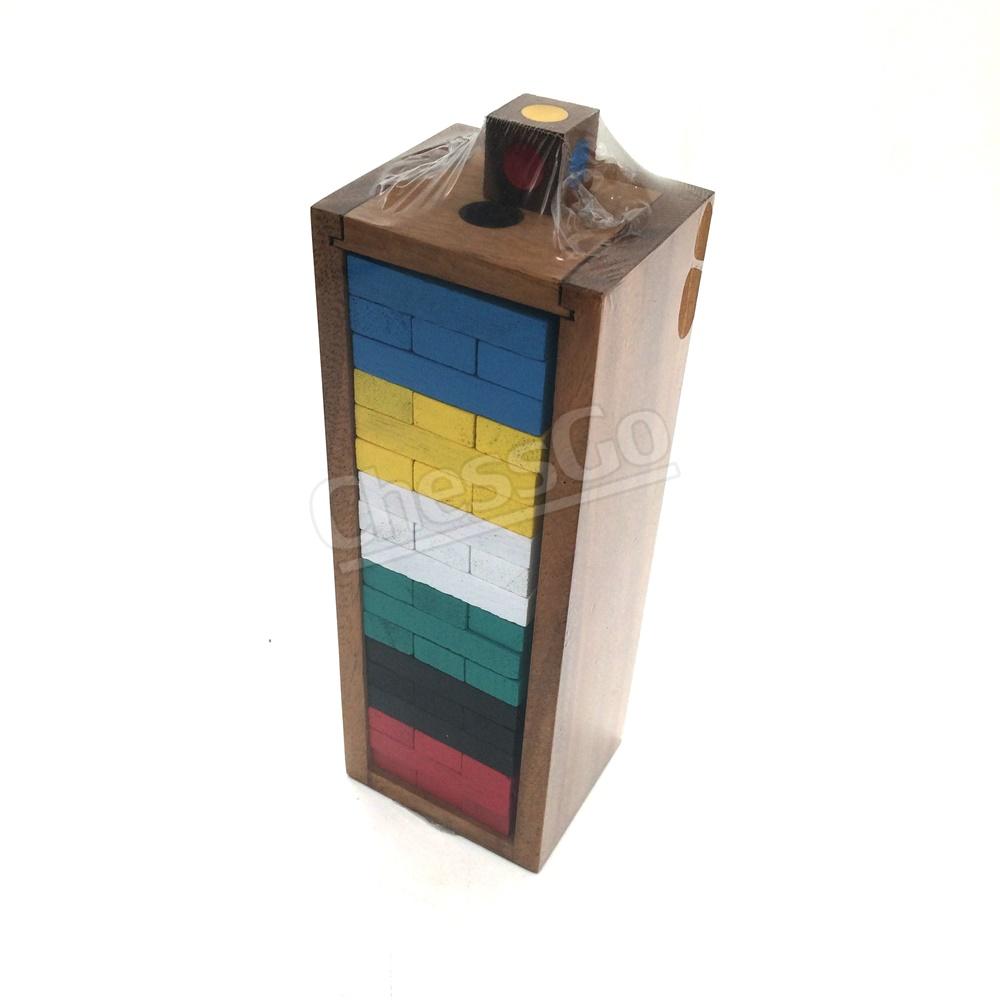เกมตึกถล่มไม้สีกลาง Jenga Color M