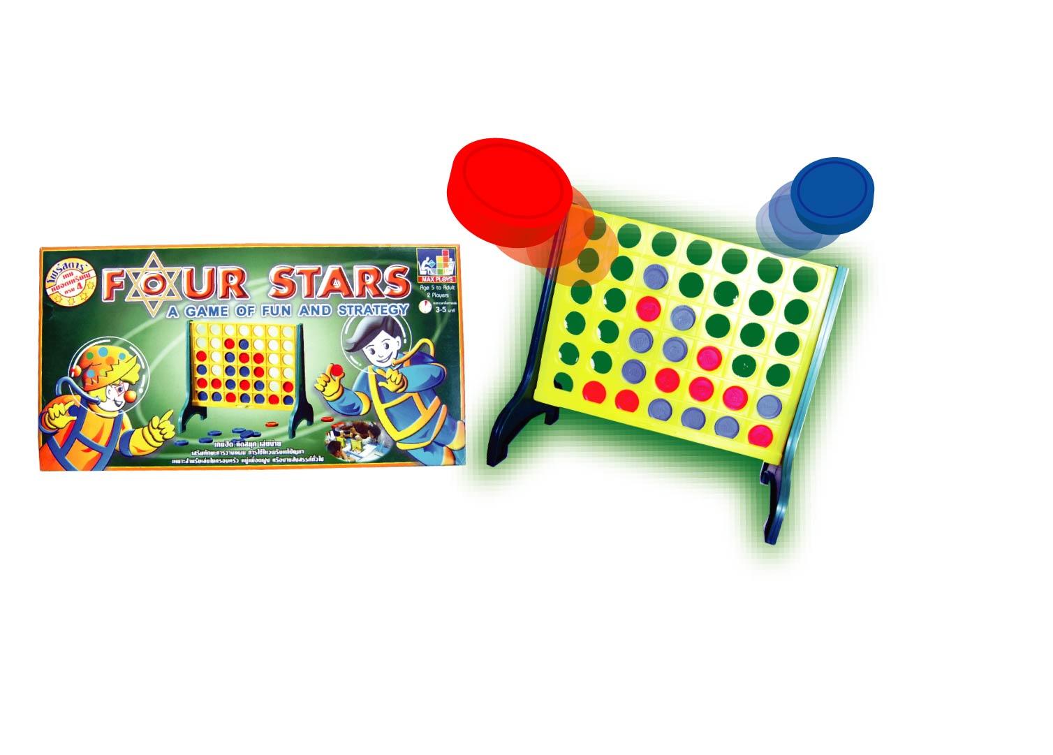FOUR STARS โฟร์สตาร์ (เกมหยอดเหรียญครบสี่)