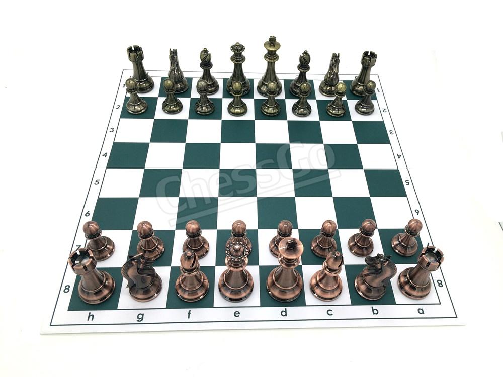 Silver&Bronze Metal Chess Set