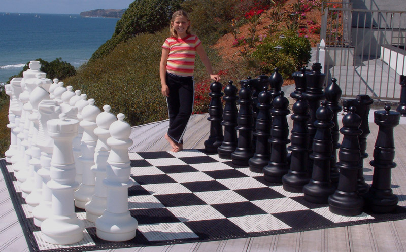 """36"""" Garden Chess Set with Plastic Board"""