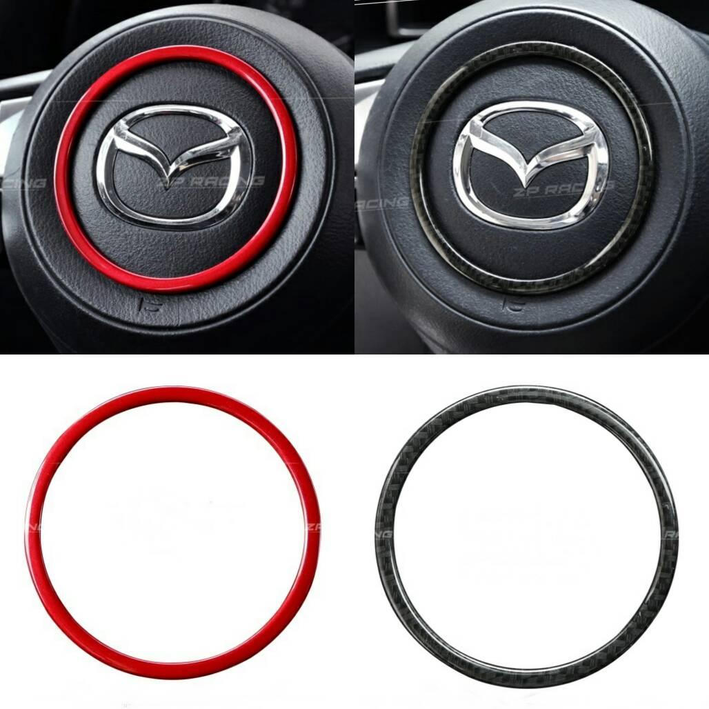 พวงมาลัย: กรอบโลโก้พวงมาลัย Mazda3