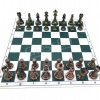 Silver&Bronze Metal Chess Set