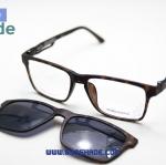 [Zenith 8008 กรอบดำลายกระ] กรอบแว่นคลิปออนแม่เหล็ก