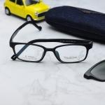 (แว่นคลิปออนเด็ก) Zupio 1301 กรอบดำด้าน พร้อมคลิปออนเทาเขียว Polarized
