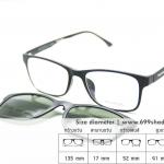 Zupio 003 ดำด้าน/คลิปออนเขียวเรแบน แว่นคลิปออนแม่เหล็ก