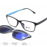 Rexbox Ex2 สีดำฟ้า - พร้อมคลิปออน polarized สีปรอทฟ้า (135mm)