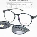 Soft 8061 ดำด้าน | กรอบแว่นคลิปออนแม่เหล็ก