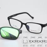 Zupio 1301-C1 แว่นเด็ก ดำด้าน ปรอทเขียว