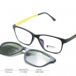 Rexbox Ex2 สีดำเหลือง - พร้อมคลิปออน polarized เขียวเรแบน - 135mm
