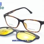 [Zenith 002 ลายกระ-ปรอททอง] กรอบแว่นคลิปออนแม่เหล็ก