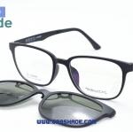 [Zenith 009 ดำด้าน] กรอบแว่นคลิปออนแม่เหล็ก
