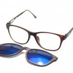 [LD7015 ปรอทฟ้า] กรอบแว่นคลิปออนแม่เเหล็ก เบา ยืดหยุ่น บิดงอได้ ส่งฟรี
