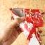 TPU แดงกำมะหยีพิมพ์ลาย+สายคล้องข้อมือ A37 thumbnail 4