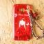 TPU แดงกำมะหยีพิมพ์ลาย+สายคล้องข้อมือ J2 thumbnail 9