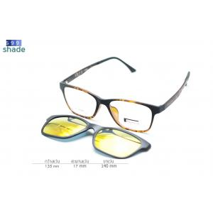 Rexbox Ex2 แว่นคลิปออนแม่เหล็ก [ลายกระ]