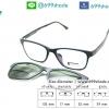 Rexbox Ex 2 แว่นคลิปออนแม่เหล็ก [สีดำด้าน]