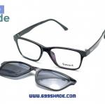 [Smart 8002 สีดำ] กรอบแว่นคลิปออนแม่เเหล็ก