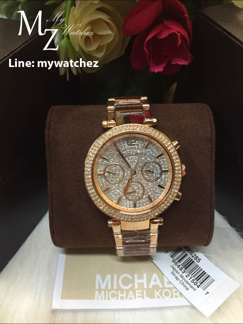 bb65f72aa688 Michael Kors Rose Gold Parker Diamond Dial Watch MK6285   Inspired by  LnwShop.com